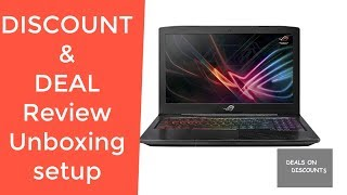Asus ROG Strix Scar Edition GL703GE Gaming Laptop GL703GE-AS74 REVIEW DEAL DISCOUNT SALE UNBOXING