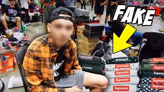 SCAMMER SELLING FAKES EXPOSED AT A SNEAKER EVENT *KICKED OUT*