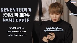 [ENG SUB] The ever confusing Seventeen's names order