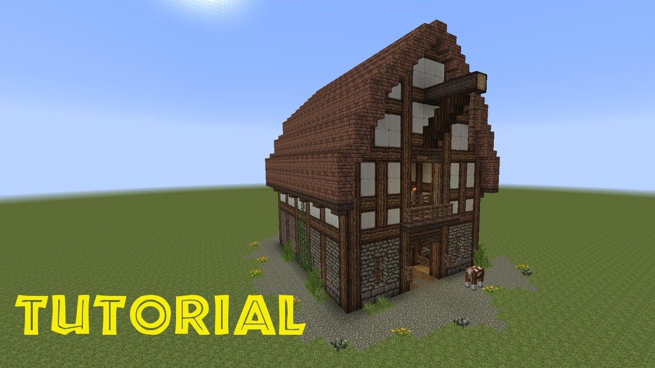 minecraft tutorial eine scheune bauen youtube. Black Bedroom Furniture Sets. Home Design Ideas