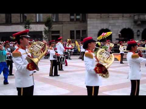 Armed Forces Central Band of Singapore Mini Military Tattoo City Square Dundee Scotland
