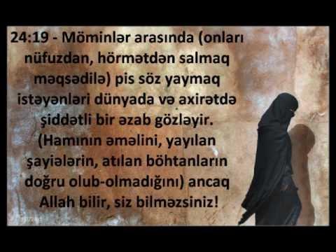 Aisha (r.a) barede Quranda ayetler