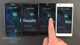 Benchmark comparison - Optimus G vs Galaxy S III vs Ascend D quad XL vs Optimus 4X HD