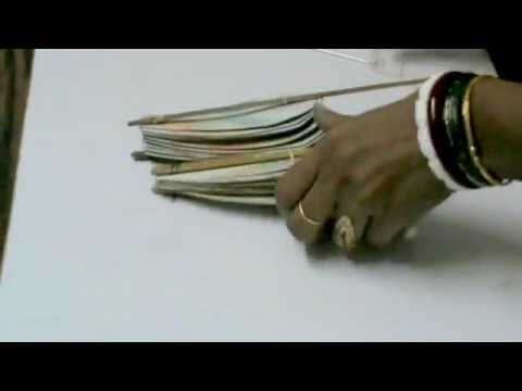 Nikshiptam how to make of folding hand fan from waste for Waste material hand work