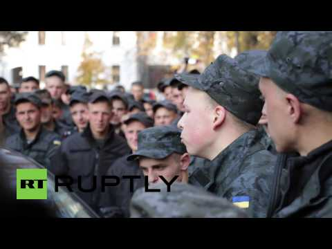 Ukraine: See National Guard protest Presidential Admiminstration in Kiev