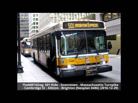 TheMBTADog: MBTA Bus 501 Ride - DOWNTOWN to BRIGHTON via MASS PIKE EXPRESS & CAMBRIDGE STREET