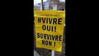 Manifestation CGT Gilets Jaunes Paris République 1er décembre 2018 #6 Vivre Oui Survivre Non