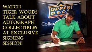 Tiger Woods Exclusive Autograph Signing Session Interview