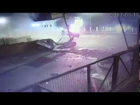 Audi TT S Huge Crash CCTV Sandton South Africa