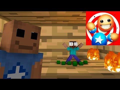 Monster School : KICK THE BUDDY #2 - Minecraft Animation