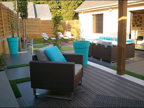 Amenagement d 39 un jardin moderne youtube for Grand jardin en friche