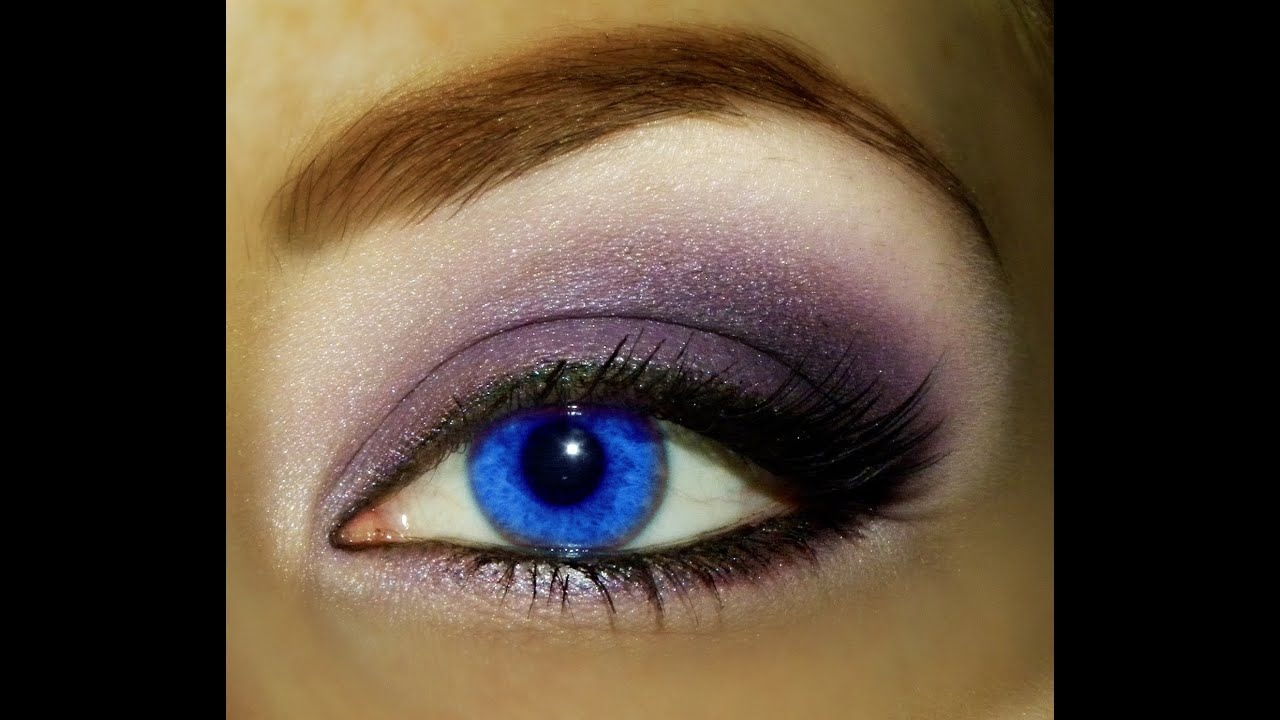 purple with colored contact look