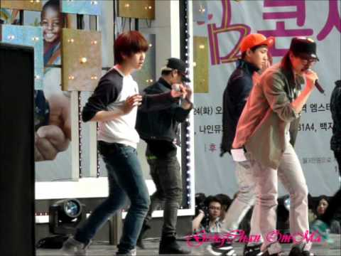 B1A4 Rehearsal Baby im Sorry at SBS Hope Concert round 1.wmv