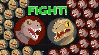 Agar.io - Jurassic Attack // Custom Agar.io Skin Gameplay
