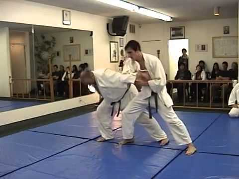 AIKI JU JITSU BELT TEST part 1 DEFENSE AND SANKYO