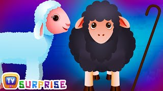 Surprise Eggs Nursery Rhymes Toys | Baa Baa Black Sheep | Learn Colours & Farm Animals | ChuChu TV