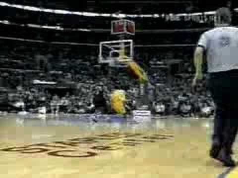 Kobe Bryant catching the long pass and then juking the Denver Nuggets with a behind the back 360 Dunk. Just Amazing period!!!!!!!!! Top 5 best dunks ever may...