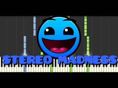 Synthesia [Piano Tutorial] | Geometry Dash - Stereo Madness