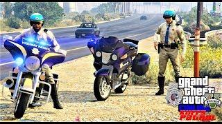 GTA 5 Police Mod KUFFS vRP FiveM #314 Highway Patrol BMW & Harley Police Motorcycles!