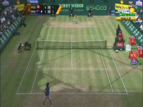 Lleyton Hewitt & Roger Federer Halle 2010 Final Video