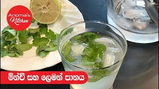 Lemon and Mint drink - Anoma's KItchen