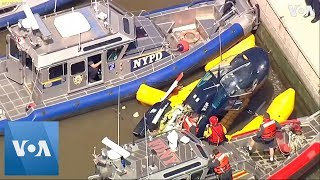 Pilot Escapes Nearly Unscathed After New York City Helicopter Plunge
