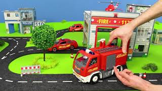 Tractor, Fire Truck, Garbage Trucks, Police Cars & Ambulance Construction Toy Vehicles for Kids
