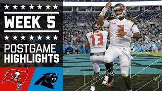 Buccaneers vs. Panthers (Week 5) | Game Highlights | NFL