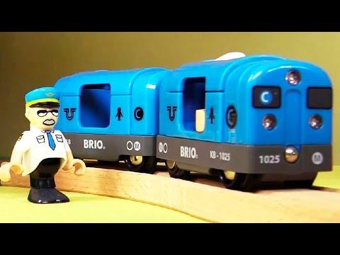 Мультик про поезда - Рабочее утро города Брио