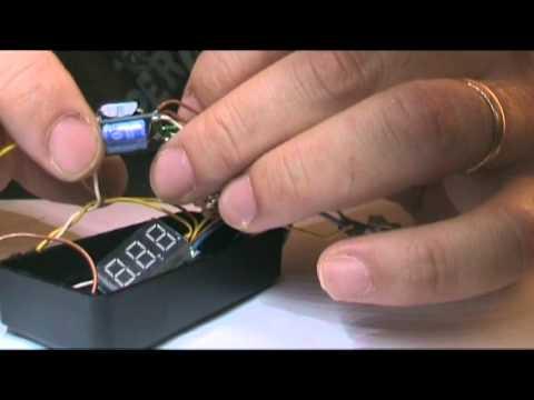 DIY E-cig VV Box Mod with Volt & Ohm display measurement