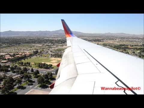 Southwest Airlines 737-700 Landing in Las Vegas KSMF-KLAS