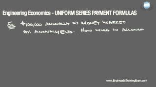 Download Lagu Uniform Series Payment Problems - Fundamentals of Engineering Economics (Part 1) Gratis STAFABAND