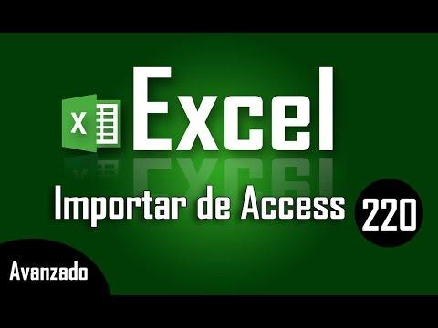 Curso de Excel: Exportar datos de Access a Excel