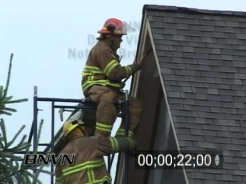 7/23/2005 Fire Fighter Video, putting out house fire caused by lightning
