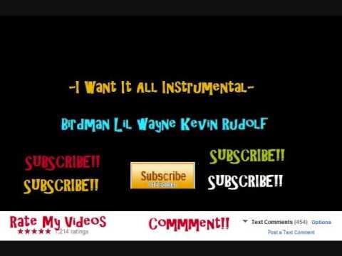 Birdman - I want it all instrumental with hook ( D/L Link in Desc.)