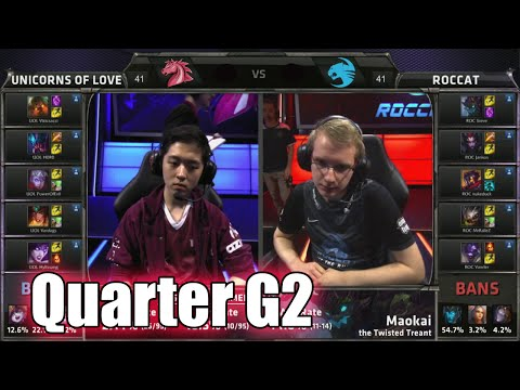 Unicorns of Love vs ROCCAT | Game 2 Quarter Finals S5 EU LCS Summer 2015 Playoffs | UOL vs ROC G2 QF