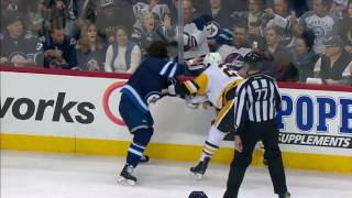 Penguins & Jets settle beef early with two fights including Malkin vs Wheeler