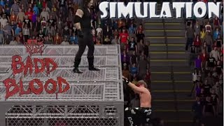 WWE 2K15 SIMULATION Undertaker vs Shawn Michaels Hell in a Cell match Badd Blood 1997