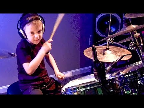 whistle, Flo Rida Avery 6 Year Old Drummer video