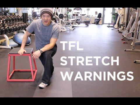 TFL stretch should not cause knee pain - YouTube