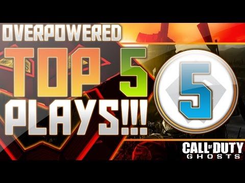COD Ghosts - Overpowered Top 5 Plays Week 47! (Call of Duty)