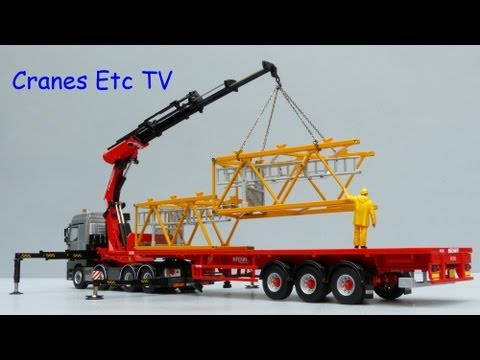 WSI Mercedes-Benz Actros with Fassi F1300 Loader Crane by Cranes Etc TV