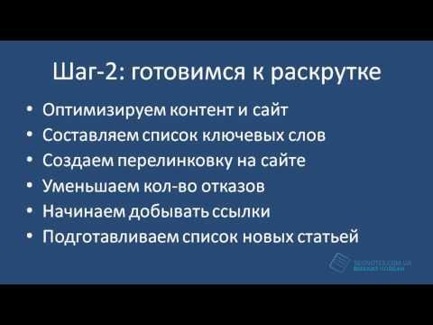 """Как раскрутить сайт за 3 шага и описание тренинга """"Прибыльный блог"""""""
