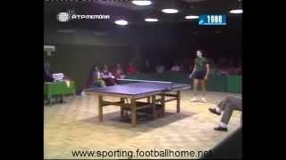 Tenis de Mesa :: Sporting - 3 x Tatavla - 5 em 1988/1989 Taça dos Clubes Campeões Europeus
