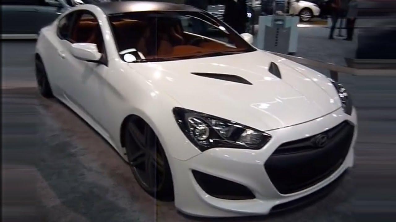 2013 hyundai genesis coupe 3 8 turbo - white color  exterior - portland auto show 2013