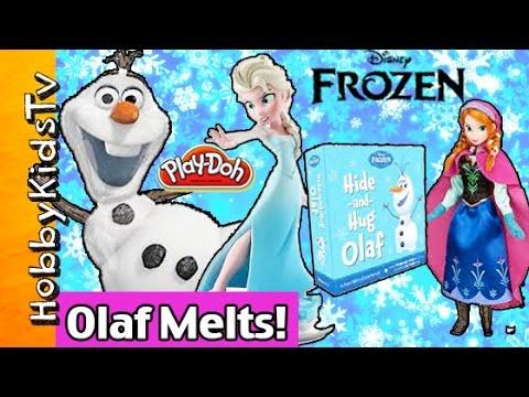 Queen Elsa makes THUNDER & LIGHTENING, Frozen OLAF MELTS With Hugs! by HobbyKidsTV