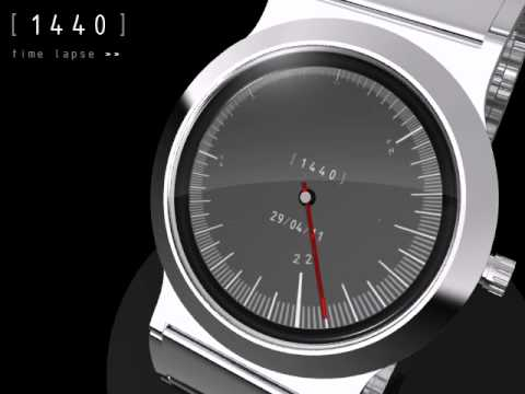 1440 e-paper analog watch for Tokyoflash