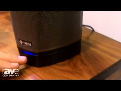 CEDIA 2015: Heos by Denon Demos The Heos One Speaker with Battery for Wireless Use
