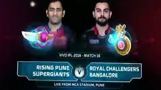 IPL 2016 : RCB vs Rising Pune Supergiants match highlights 2016 #SlideShow
