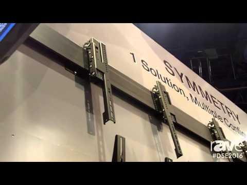 DSE 2016: Premier Mounts Highlights Ceiling Suspended Symmetry Series for Digital Signage